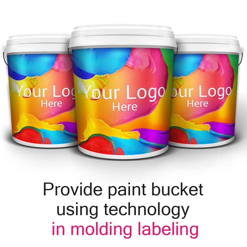 成形ラベルの技術を用いて塗料バケツを提供する