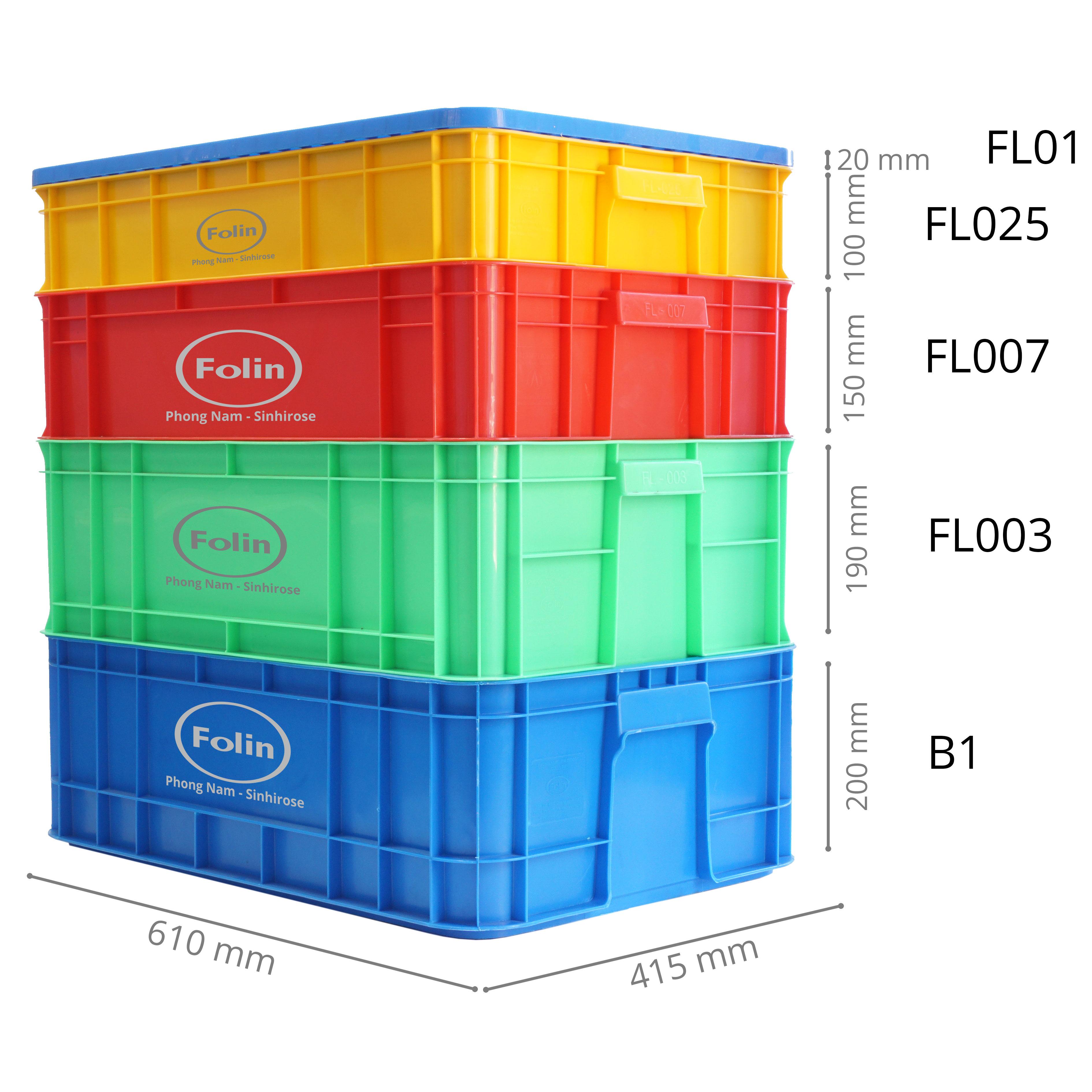積層多目的プラスチックボックス