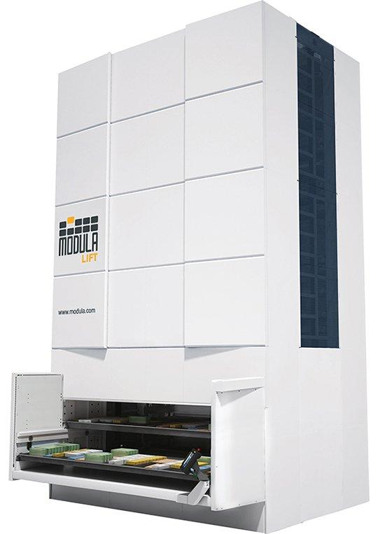 Modula Lift:縦倉庫システム
